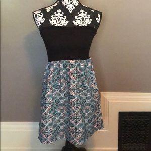 Roxy black and pink paisley dress size m